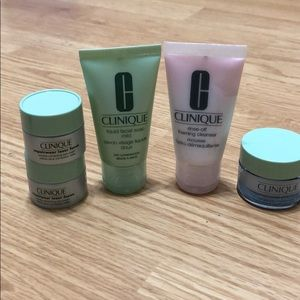 BUNDLE Clinique travel size skin care items!